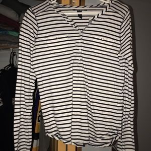 Long sleeve striped button up
